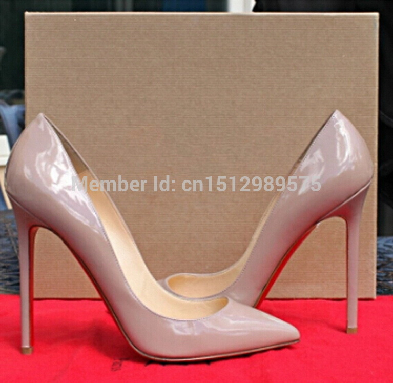 Wholesales Price 100% Original Quality Brand New So Kate 120 Nude Patent Leather Pointed-toe Pumps Shoes Free Shipping Worldwide(China (Mainland))