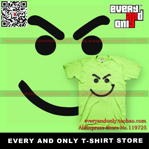 Free Shipping Bon Jovi Rock Band Smile Face 100% cotton short-sleeve t-shirt tee t multi-color(China (Mainland))