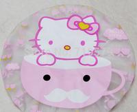 3PC/LOT  Free shipping Cartoon hello kitty bathroom water proof shower hat cute bath cap KT168 RANDOM