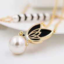 Gold Plated Honey Bee Necklace Rose Gold Plated Cute Honey Pearl Pendant Necklace Jewelry For Women Wholesale