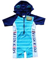 New free shipping kids boys 5pcs/lot cartoon shape stripe swim wear with letters ,UPF 50+ polyester beach rash guards