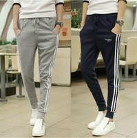 Male small feet pants men's cotton show thin leisure haroun pants