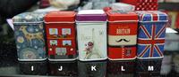 free shipping  marvelous tin box new London souvenirs UK tea box candy box metal storage box bins