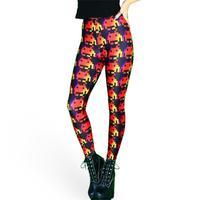 Women Digital Printing Legging New 2015 Multi Color Spaceman Robot Leggings Fashion Trousers Fitness Leggins S106-636