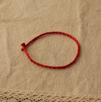 Free shipping red rope bracelet hand-knitted bracelet good luck couple auspicious wealth and bracelet men women children