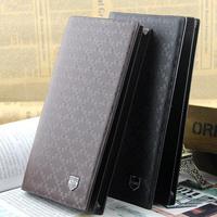 Famous Male Purses Long Money Bag Leather Design Men's Wallets  Brand Long Thin Wallet New 2015 Men Wallets