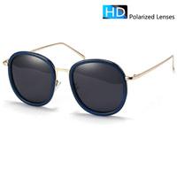 polarized sunglasses women Round vintage sunglasses men brand designer vintage sun glasses female uv400  for dirver hot  9388