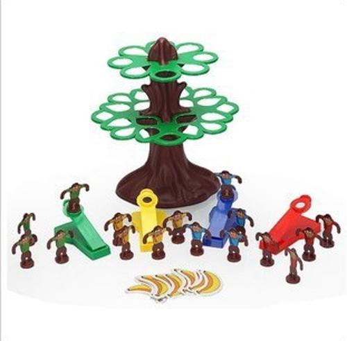 Children's board games , fun jumping monkey, parent-child interaction