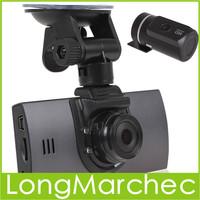 """2PCS 2.7"""" TFT Screen 720P HD H.264 Car Video Recorder Dual Camera Lens DVR Support G-sensor GPS-In"""
