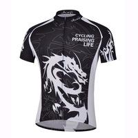 Cheji brand men's Dragon Knight Black Jersey coat Super wear-resistant moisture wicking short sleeve cycling Jersey