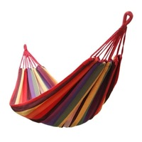 Wholesale + Lower Freight Canvas 280X 80cm Hammock outdoor camping swing thickening canvas single hammock casual double bearing