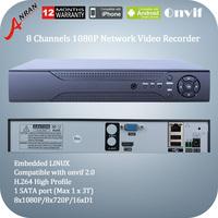 Anran 1080P AR-NVR6008T-PL 8CH NVR Network HD Digital Video Recorder HDMI VGA 720P/1080P Support ONVIF Output