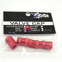 wholesale 50package /200pieces/lot  Aluminum Tire Wheel Rims Stem Air Valve Caps Tyre Cover Car Truck Bike