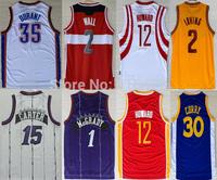 cheap Basketball Jersey 2 Kyrie Irving 30 Stephen Curry Jersey,1 Tracy McGrady 15 Vince Carter John Wall Jersey wholesale