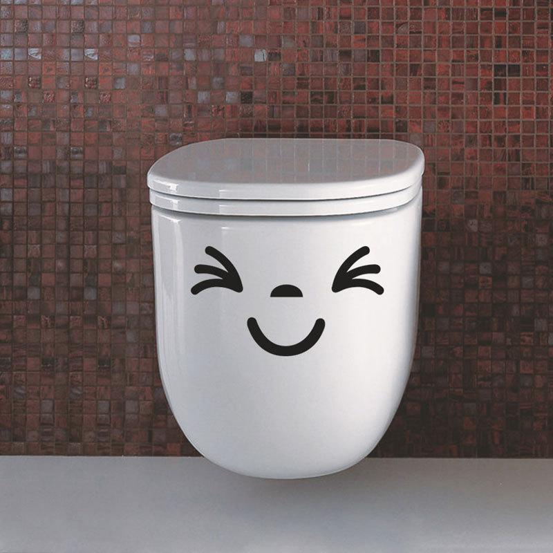 2 x The Best Seat Toilet Smile Baby Washing Downloading wall sticker fridge sticer washing machine sticker furniture decoration(China (Mainland))