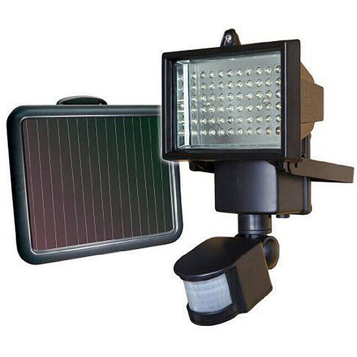 Painel Solar LED Flood jardim luz PIR Sensor de movimento 60LED