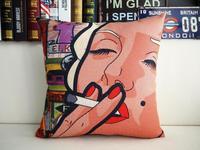 """Brand New Smoking Monroe Pop Bar Throw Pillow Case Home Decor Cushion Cover Square 18"""" 45cm"""
