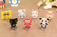 10PC/lot Universal Stand Holder 360 Degree Rotating Snatches Holder Cartoon Ring Bracket for Iphone Ipad CellPhone Smartphone
