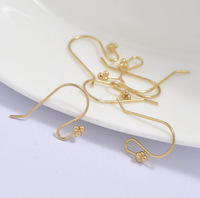 T15130027, 1PC/lot, DIY Accessory, New Stock Hot Sales Copper 18K Gold Earring Accessory Ear Wire Ear Hook, Free Shipping