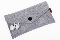New Design Felt case for iphone 4/4s/5/5s phone bags case with free shipping