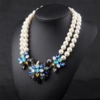 B N00495 2014 New Arrival necklaces & pendants fashion brand pearl Trendy vintage choker statement Necklace women