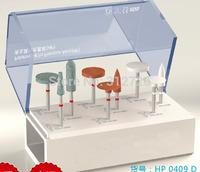 Dental lab precious metal polishing kit - for dental low-speed straight handpieces use - 9  pcs