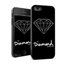 free shipping 0d75c 0e758 Customized Diamond Supply Co Hard Black Skin Mobile Phone Cases ...