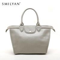Smilyan genuine leather candy color hobo hand bag women shoulder bags fashion bolsas femininas designer handbags high quality