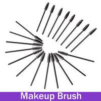 Disposable Eyelash Makeup Brush Mascara Wands Applicator 100 Pcs Black Plastic Handle Hot Sale Makeup Tool Mini Pincel
