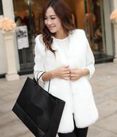 2014 Fall Winter Warm Faux Fur Vest For Women Vests Coats Casual Women Clothing Hot Sale T22-45