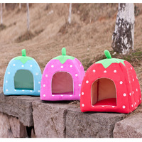 1PC New Arrival Soft Sponge Pet Dog Cat Bed Houses Lovery Warm Doggy Kennel, Free & Drop Shipping