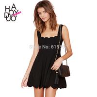 Petal sweet temperament low-cut halter invisible zipper waist dress princess dress folds