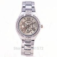 100pcs/lot latest fashion style rhinestone geneva hot sale diy watch