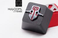 Translucent Keycap Keypress Holyoops Dota2 Sword Aluminum Alloy for Mechanical Keyboard Metal Backlight Backlit
