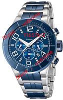 Fashion FE 6576 Men's Two-Tone Ceramic Quartz With Blue Dial Watch F16576/3 Original Box