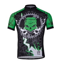 Chain Devil's Green Jersey for a comfortable outdoor breathable moisture wicking shirt with short sleeves cycling Jersey