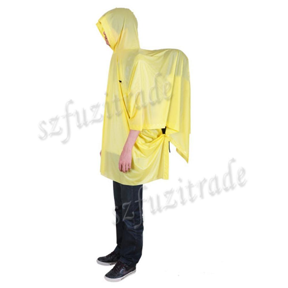Марка восхождение на велосипеде рюкзак дождевик туристическое снаряжение открытый пончо плащ водонепроницаемый отдых на природе палатка коврик желтый AJA00071