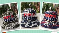 European style of hip-hop star American flag USA letters graffiti Benn flat brimmed hat camouflage baseball hat