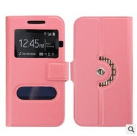 new arrival free shipping quality flip leather phone case 4.7 inch for COKI W528T case with open window 2H