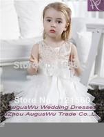 AFB344 2015  Best Selling   Flower gir dresses for weddings Little girls pageant dresses Floor length Custom Made