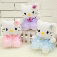 Free shipping one pcs 18cm tulle dress kt cat doll plush doll girls dolls toy