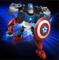 Hot Sale New 2015 Avenger Union Captain America Assembled Model DIY Children Toys Educational children Gift