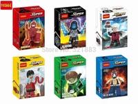 Decool 0192-0197 Super Hero Minifigure Daredvil Electro Bane Green Lantern Flastic Man Building Blocks Action Figure