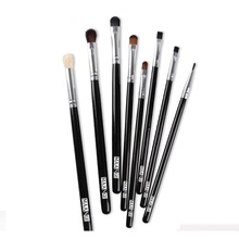 8 pcs Black Handle Professional Eye Shadow Makeup Brushes Set Top Quality Cosmetic Eyeshadow Brush Kits