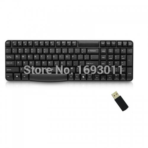 Fn Hotkeys 2.4G USB Wireless Keyboard 104 Keys for PC Laptop(China (Mainland))