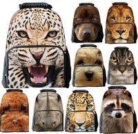 2015 Spring Cool 3D Priting Animals Men Felts Bag Cute Patterns Outdoor Sport Backpacks Students School Bag Leisure Travel Bag