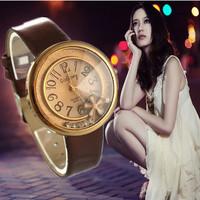 2015 Hot Elegant Style Watch Women Luxury Leather Quartz Watches Fashion Rhinestone Dress Wrist watches Hour relogios feminino