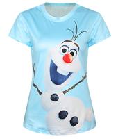 New Summer T-Shirt 3D Women O-Neck Short Sleeve Character Print t Shirt Tops Tees tshirt Women's T shirt