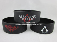 "Assassin's Creed wristband,silicone bracelet,figure wristband,,1"" wide band,50pcs/lot,free shipping"