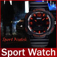 2015 Fashion Brand SKMEI Quartz Analog LED Military Waterproof Wristwatch Men Swimming Sport Watch For Men Relogio Masculino
